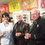 MP Vickie Chapman, John Wilson and Piper Des Ross