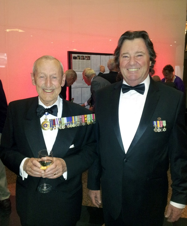 Maj. Gen. Jim Hughes AO DSO MC (Rtd) with Tony Boyce, our new Membership Officer