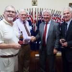 RARA SA Vice-President Rod Graham, Mike von Berg, new Director Veterans SA Rob Manton, Patron Laurie Lewis