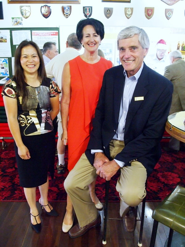 City of Charles Sturt Councillor Oanh Nguyen , Bragg MP Vickie Chapman, Burnside Mayor David Parkinson