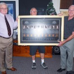 RARA SA President Mike von Berg, Club Manager Spike Dwiar with Neil Sutton presenting his VC Roll of Honour