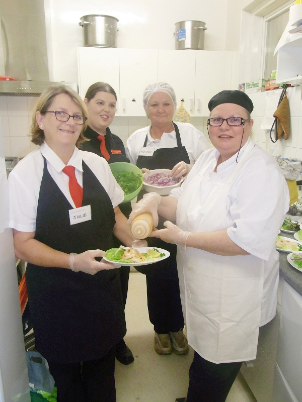 Caterers Cheryl's Kitchen with Julie, Cheryl, Lynne & Heather